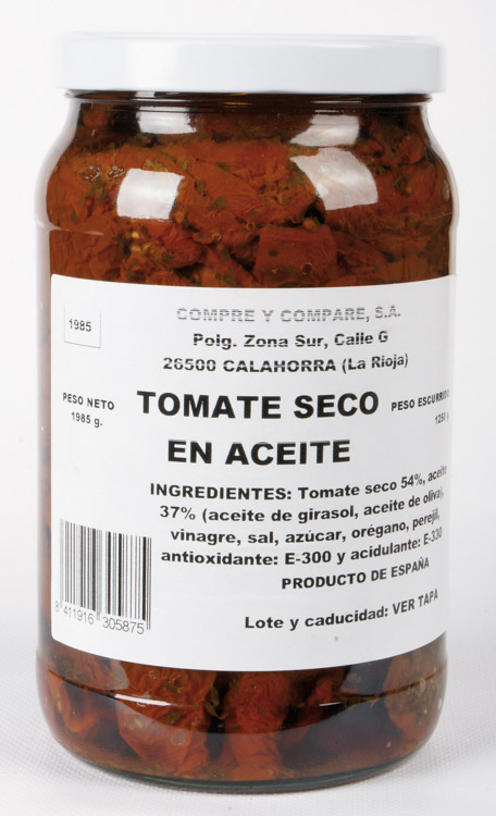 Tomate Seco en Aceite Tarro 2 kg