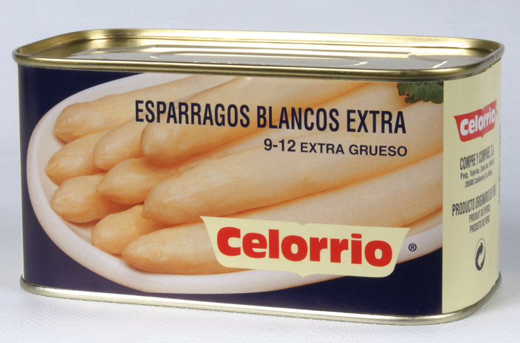 Espárrago Blanco 9/12 Lata 1 kg Extra (Perú)