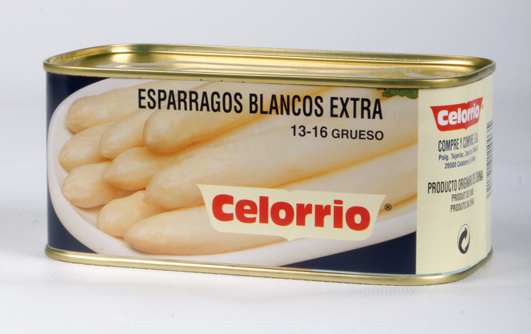 Espárrago Blanco 13/16 Lata K-B Extra (Perú)
