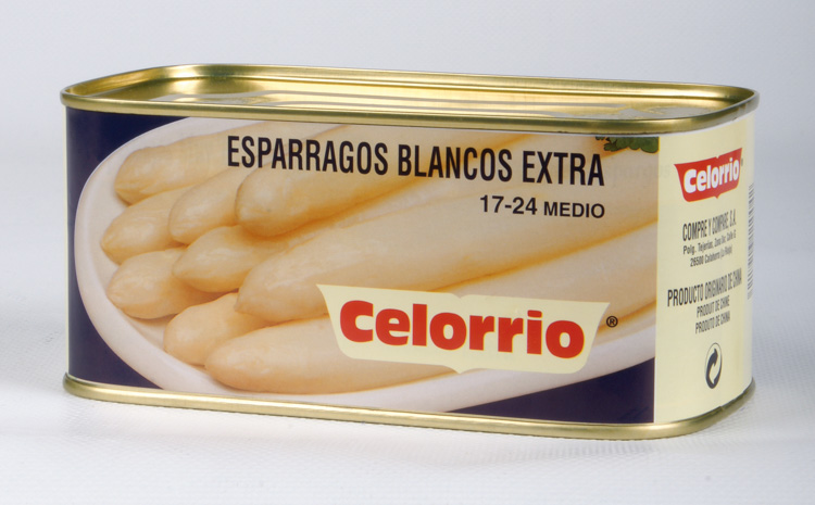 Espárrago Blanco 17/24 Lata K-B Extra (Perú)