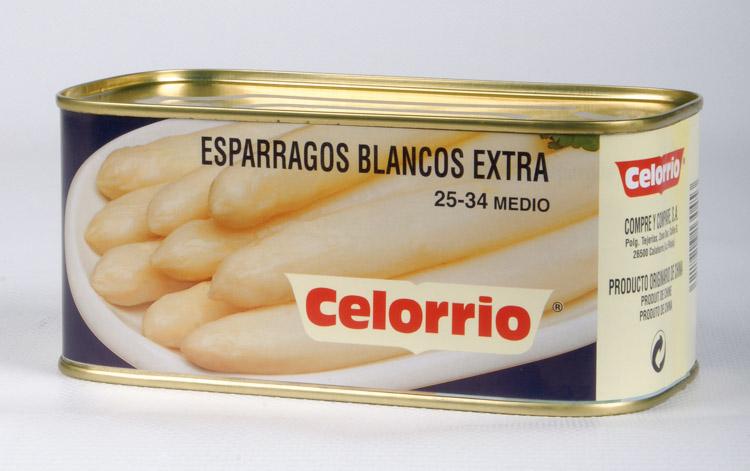 Espárrago Blanco 25/34 Lata K-B Extra (Perú)
