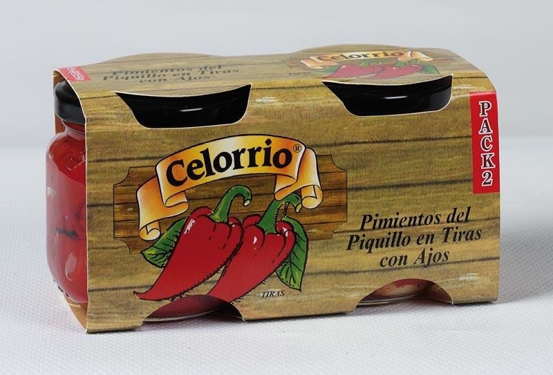 Ensalada de Pimientos del Piquillo Tiras con Ajo Tarro 212 ml Pack-2