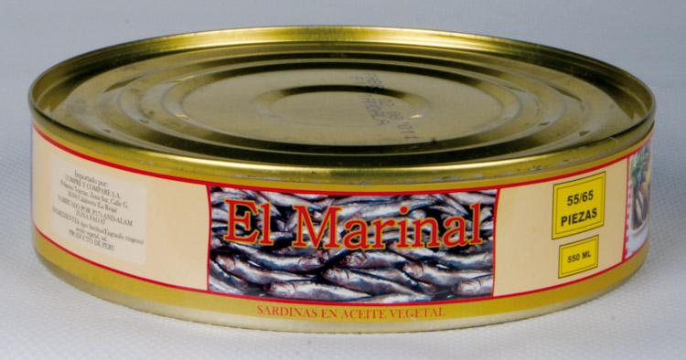 Sardinillas en aceite 55-65 550 gr. lata