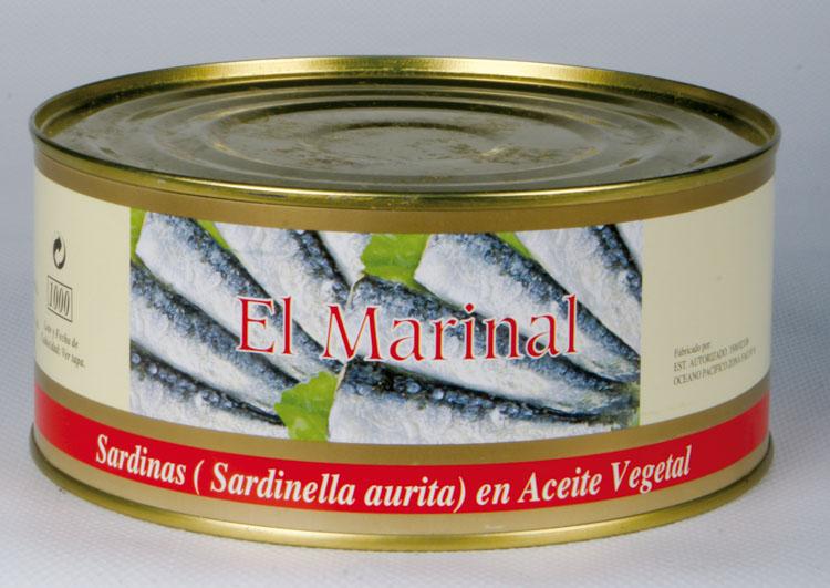 Sardinillas en aceite 120-150 1.000 gr. lata