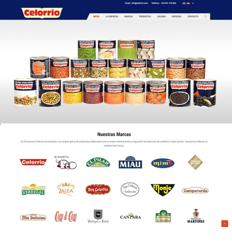 Conservas Celorrio lance son nouveau site web