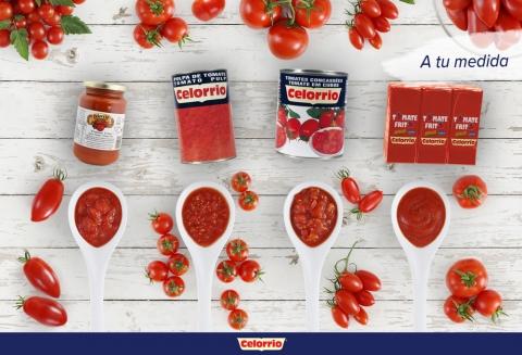 Celorrio ofrece una amplia oferta de productos de tomate