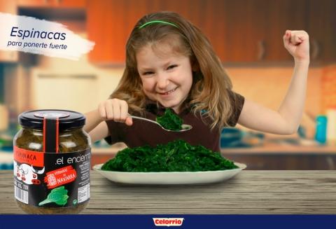 Las espinacas de El Encierro, aliadas para introducir las verduras en la alimentación de los niños