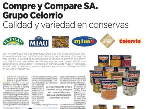 Reportaje Conservas Celorrio en La Razón