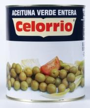 Aceitunas verdes enteras 3 kg.