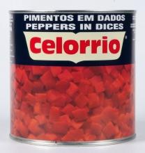 Pimiento dados 1º 3 kg. lata