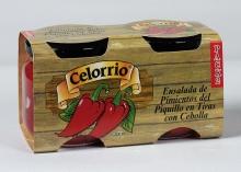 Ensalada de Pimientos del Piquillo Tiras con Cebolla Tarro 212 ml Pack-2