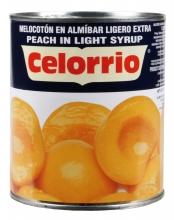 Melocotón mitades en almibar 1kg. lata