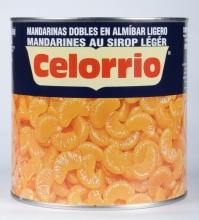 Mandarinas gajos en almíbar 3kg. lata