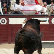 El Campeón de España de saltos realizando una arriesgada suerte